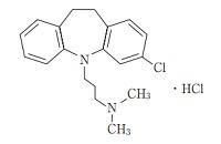 クロミプラミンの構造式