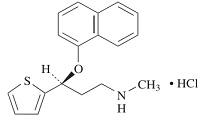 デュロキセチンの構造式