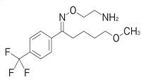 フルボキサミンの構造式
