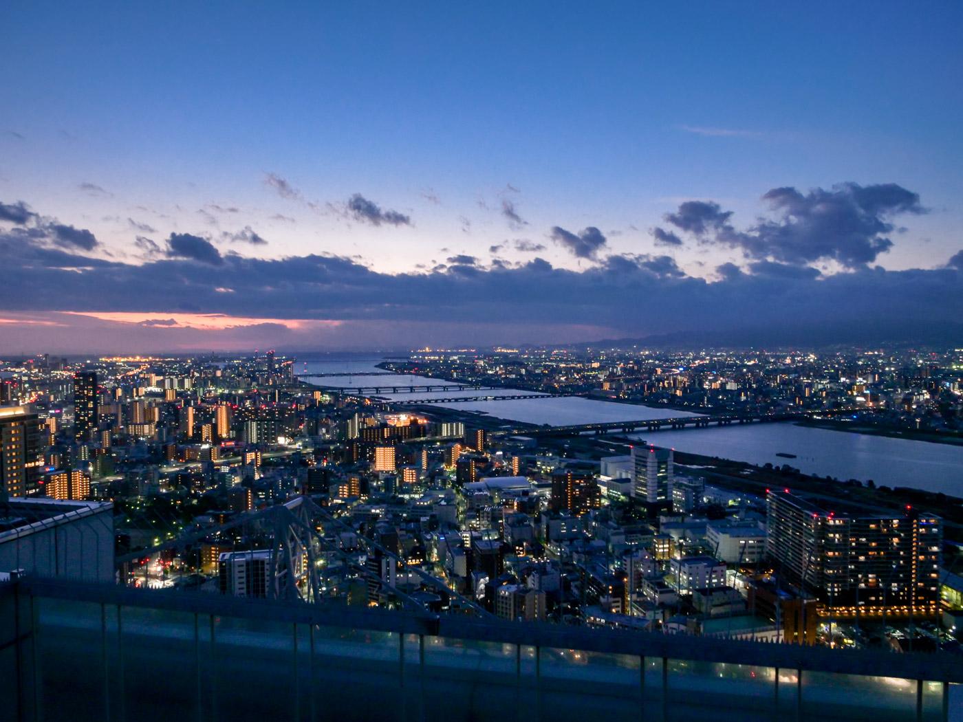 梅田スカイビルから見る淀川河口