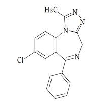 アルプラゾラムの構造式