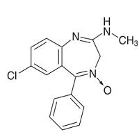 クロルジアゼポキシドの構造式