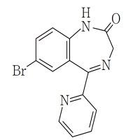 ブロマゼパムの構造式