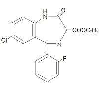 ロフラゼプ酸エチルの構造式